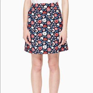 daisy jacquard a-line skirt
